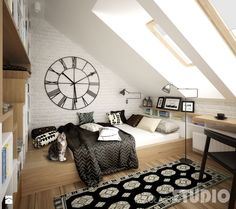 Sypialnia w stylu skandynawskim Sypialnia - zdjęcie od MIKOŁAJSKAstudio