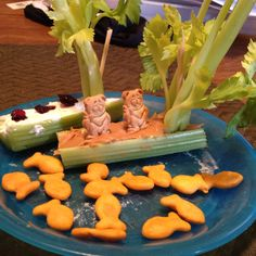 Celery boats for kids | Check out Front Door Farms #Celery HERE: http://www.frontdoorfarms.com/products/celery