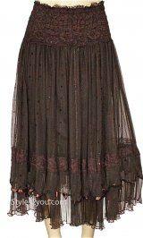 Pretty Angel Clothing Vintage Skirt With Sequins In Coffee Mori Fashion, Fashion Moda, Skirt Fashion, Gypsy Style, Bohemian Style, Boho Chic, Pretty Angel Clothing, Chic Outfits, Fashion Outfits