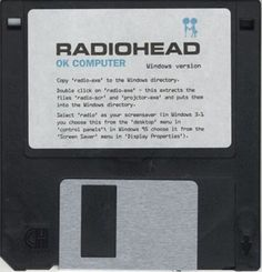 Radiohead 'OK Computer' screensaver for Windows 3.1 or 95 on 3.5 inch floppy. Awesome retro promotional item from 1997