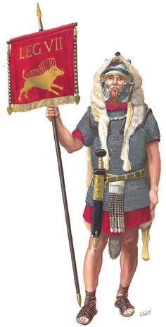 Vexillarius, LEG VII Claudia, 75 AD.