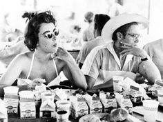 James Dean and Liz Taylor on set...