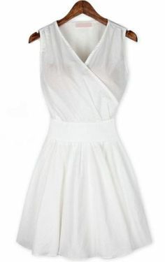 A basic white dress.  Wonderful for summer events.
