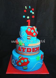 Little Boy Airplane Birthday Cake