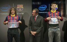 Innovatív szponzoráció: Intel logó a Barcelona mez belsején