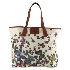 This tote bag is so roomy and I love butterflies. It will be perfect for day trips with the baby.