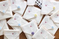 For the Love of Writing: create a child's postcard set.  Includes blank postcards for decorating, book of stamps, and pen.