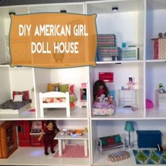 Awesome DIY American Girl Doll House! Easy and budget friendly.