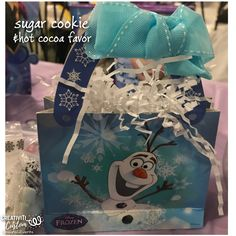 Sugar Cookie and Hot Chocolate Party Favor