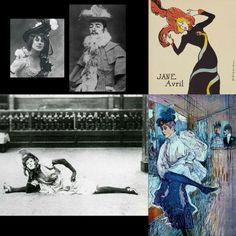 Η Jane Avril και ο Toulouse-Lautrec μεταμφιεσμένος σε Jane Avril.