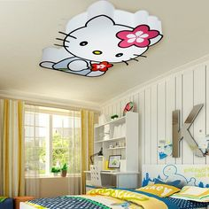Hello Kitty cat lamp for kids bedroom