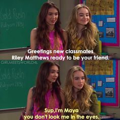 "#GirlMeetsWorld 2x01 ""Girl Meets Gravity"" - Riley and Maya"