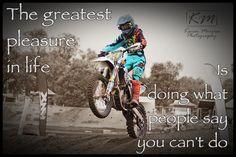 Liam Motocross Quote