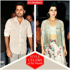 "‪#‎StyleCelebsOfTheMonth‬ Hey Folks, this week Tollywood celebrities' ‪#‎Nithiin‬ and  ‪#‎Samantha‬ Ruth Prabhu are dazzled in Trendy outfits for ""A AA"" Movie AudioLaunch. (Image copyrights belong to their respective owners)"