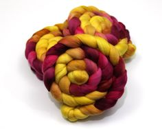 Ultrafine Merino Wool Roving (Combed Top) - 15.5 Micron - Luxury Handpainted Fiber for Spinning or Felting (31.00 USD) by woolgatherings