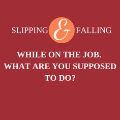Phoenix Slip And Fall Lawyer: Slips and Falls on the Job.  In Arizona, Attorneys need to be prepared to handle all kinds of claims, no matter where or how they occur.  It's crucial for all slip and fall attorneys in Arizona to understand that the location of a victim's fall can be as important as how the fall occurred, and nowhere is this fact more obvious than in falls at work.  Keep Reading: - http://www.zacharlawblog.com/2011/08/phoenix-slip-and-fall-lawyer-slips-and-falls-on-the-job.html
