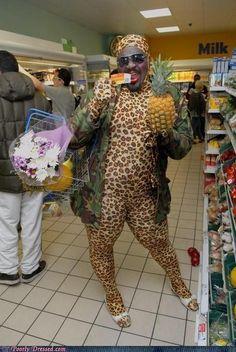 Peopleof  Walmart Hot Diggity Dog | #people of walmart #leopard #spandex