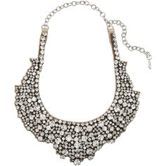 Valentino Swarovski crystal necklace (4.535 ARS) ❤ liked on Polyvore featuring jewelry, necklaces, accessories, valentino, colar, silver, chain jewelry, clear jewelry, swarovski crystal jewellery and clear chain necklace