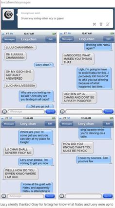 Drunk Levy texting Lucy!!!!!!!!!!! This is just too good!!!!!!!!!