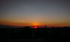 Awesome monday sunset, very inspiring. Magical red sun. Pic taken by me