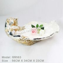 Home Gold Polyresin Fruit Tray