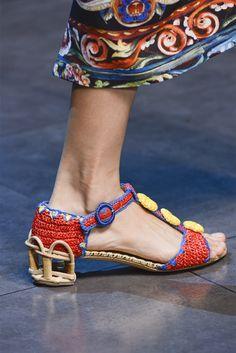 Dolce & Gabbana Spring 2011 - Shoe Details MFW