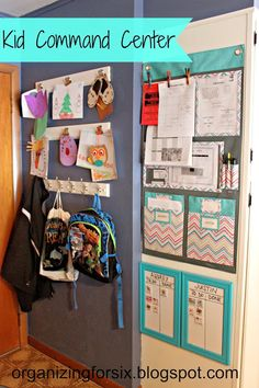 Organizing for Six: Kid Command Center