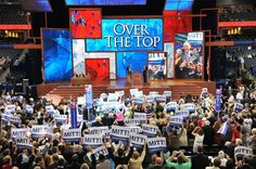 """""""Delegates show their support for Mitt Romney during roll call for nomination of president of the United States at the Tampa Bay Times Forum in Tampa"""" -- The Washington Post"""