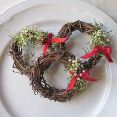 Christmas Napkin Rings Christmas Napkin Rings 10 Napkin Ring Wreaths Christmas Party by InTheBluebellWoods, $30.00