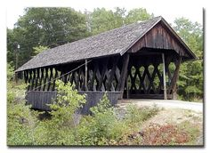 """Keniston Bridge~Andover  Built in 1882 at a cost of $745.57 this bridge spans the Blackwater River at 64'6"""" long."""