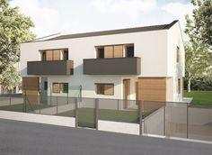 Progetto di una villa bifamiliare.