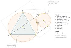 Geometry Problem 1277: Equilateral Triangle, Circumcircle, Externally Tangent Circles, Tangent Line, Measurement