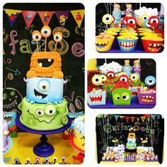 Monsters party theme - Festa tema monstrinhos por Karine Alves ( Arte da Ka)