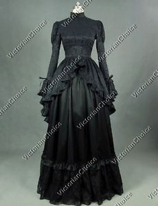 Black-Victorian-Gothic-Dress-Penny-Dreadful-Theater-Period-Clothing-Wear-324