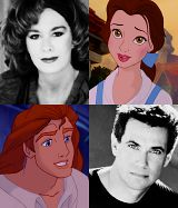 Voice Actors for Belle (Paige O'Hara) and the Beast (Robby Benson)
