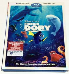 Finding Dory Blu Ray + DVD w/ Bonus Disc Disney Pixar 3-disc set Slipcover  | eBay