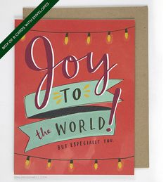 Holiday Boxed Cards Funny Holiday Card: Joy by emilymcdowelldraws