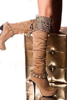 Fashion Autumn and summer Woman shoes Women's Boots High heels Thin Heels Round Toe Platform Knee high Boots Big size Brown Knee High Boots, Tan Boots, Sexy Boots, High Heel Boots, Heeled Boots, Bootie Boots, High Heels, Botas Durango