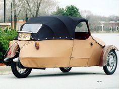 16-350 07 Le Tricycle, Microcar, Reverse Trike, Trike Motorcycle, Third Wheel, Engin, Small Cars, Cars And Motorcycles, Vintage Cars