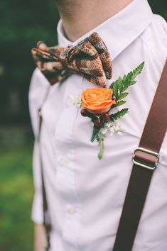 Groom Bowtie and Suspenders Wedding Men, Wedding Groom, Wedding Suits, Wedding Attire, Diy Wedding, Wedding Styles, Dream Wedding, Copper Wedding, Rustic Wedding