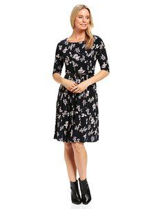 Vivienne Fit & Flare Dress (Hidden Garden)