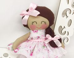 Ballerina Doll Fabric Doll Cloth baby doll by SewManyPretties