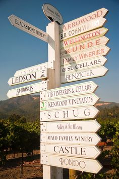Winery Signs - Sonoma Valley, California