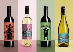 Famed Illustrator Makes Text-Less Labels That Sum Up The 'Feeling' Of Each Wine - DesignTAXI.com