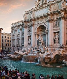 The Trevi Fountain - Rome, Italy. One of my favourite places I've ever visited! Places Around The World, Travel Around The World, The Places Youll Go, Places To See, Around The Worlds, Dream Vacations, Vacation Spots, Wonderful Places, Beautiful Places
