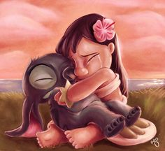 realistic painting lilo and stitch | lilo and stitch - lilo-and-stitch Fan Art