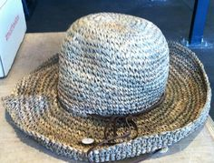 """Michael Stars Sea Grass Crusher Hat in """"Natural"""".  Retail $48.  Brand new, but my bow came a little messed up...it just needs a dab of glue to lay tighter.  SELL PRICE: $12.  Due to size, prefer to ship with other items.  **PENDING**"""