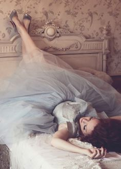 love the tulle in blue! Vintage fashion
