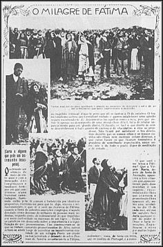 The miracle of the sun in Portugal, October 13, 1917.