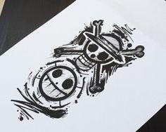 tattoo one piece One Piece Tattoos, Body Art Tattoos, Small Tattoos, Cool Tattoos, Naruto Tattoo, Anime Tattoos, Tattoo Ideas Tumblr, Tatuagem One Piece, Bio Organic Tattoo